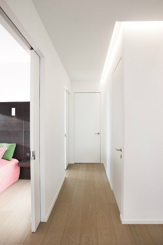 Puertas madera color blanco
