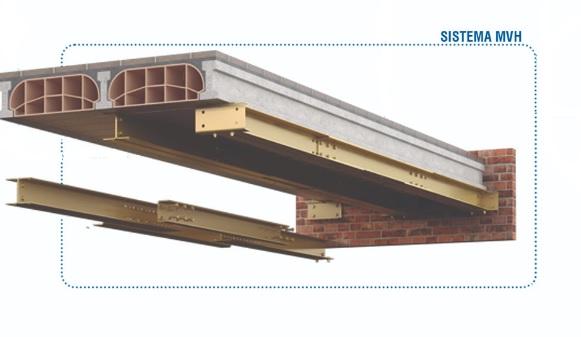 Sistema de reparación estructural de forjados afectados porcarbonatación